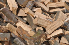 Heap up firewood Stock Photos