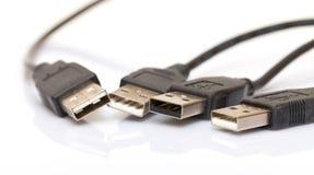 Heap USB Jacks Stock Image