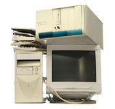 Heap of used computers Stock Photos