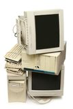 Heap of used computers Stock Photo