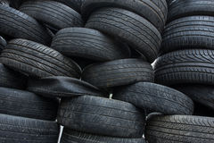 Heap of used tires Stock Photography