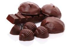 Heap various chocolate Stock Image