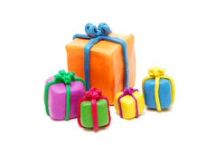 Heap of Various Christmas Gifts Stock Photo