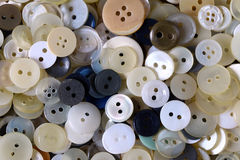 Heap of various clothing buttons Stock Photo