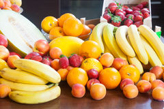 Heap of various fresh fruits Royalty Free Stock Photos