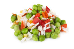 Heap of vegetable mixture Royalty Free Stock Image
