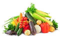 Heap of vegetables on white Royalty Free Stock Images