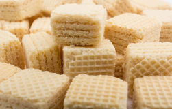 Heap wafers on a white Stock Photography