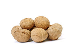 Heap of walnut. Royalty Free Stock Image
