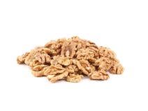 Heap of walnut kernels. Royalty Free Stock Photos