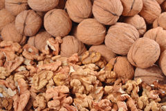 Heap of walnuts Royalty Free Stock Photos
