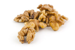 Heap of walnuts Stock Photo