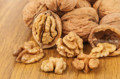 Heap of walnuts Royalty Free Stock Images