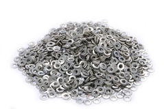 Heap of washers Royalty Free Stock Photos