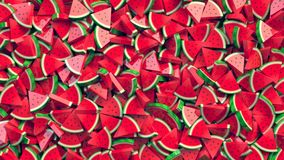 Heap of watermelon slices abstract background. 3D Rendering stock illustration