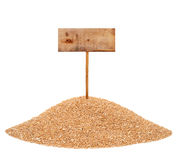 Heap of wheat grains Stock Photos