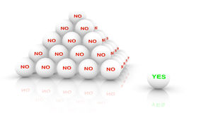 Heap of white balls with the word no Royalty Free Stock Images