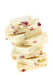 White chocolate with strawberry Stock Photography