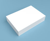 Heap of white paper. On blue background stock illustration