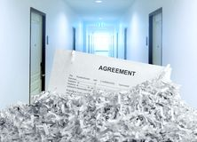 Heap of white shredded papers Royalty Free Stock Image