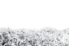 Heap of white shredded papers Royalty Free Stock Photography