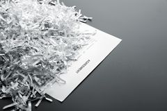 Heap of white shredded papers Stock Image