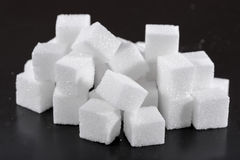 Heap of white sugar cubes Royalty Free Stock Photography