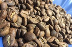 Whole coffee beans. Heap of whole coffee beans Royalty Free Stock Photography
