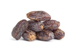 Heap of whole dried dates Stock Photo