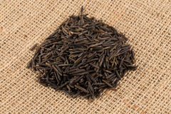 Heap of wild rice on white background Royalty Free Stock Photography