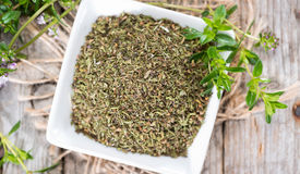 Heap of Winter Savory Royalty Free Stock Images