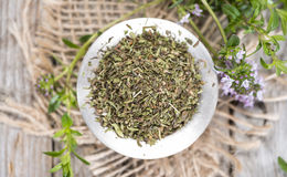 Heap of Winter Savory Stock Photography