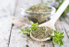 Heap of Winter Savory Stock Photo