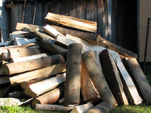 Heap of wood Stock Photography
