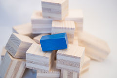 Heap of wooden cubes Stock Photos