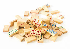 Heap Wooden domino Stock Photography