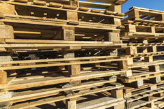 Heap of wooden pallet Stock Images