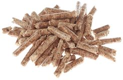 Heap of Wooden Pellets Cutout Stock Photography