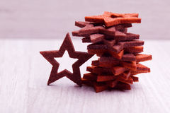 Heap of wooden stars Royalty Free Stock Photo