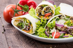 Heap of Wraps on a plate Stock Images