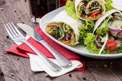 Heap of Wraps on a plate Royalty Free Stock Photos
