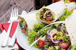 Heap of Wraps on a plate Royalty Free Stock Images