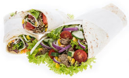 Heap of Wraps on white Stock Image