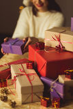 Heap of xmas presents Royalty Free Stock Photo