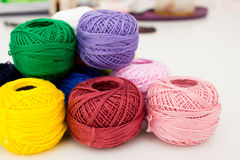 Heap of yarn skeins Stock Photo