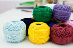 Heap of yarn skeins Stock Images