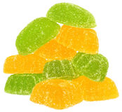 Heap of yellow and green candy Royalty Free Stock Image