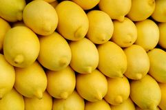 Heap of yellow lemons Stock Image
