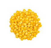 Heap of yellow lentils Stock Photography