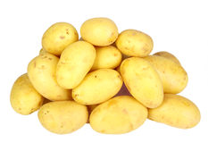 Heap of yellow raw potatos Royalty Free Stock Photos